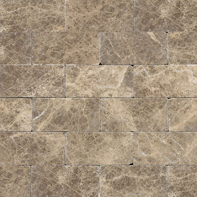 Daltile Marble 3 x 6 Emperador Light Classic Tumbled Tile & Stone