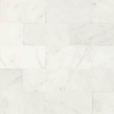 Daltile Marble 3 x 6 First Snow Elegance Honed Tile & Stone
