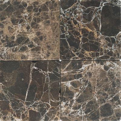 Daltile Marble 4 x 4 Emperador Dark Tumbled Tile & Stone