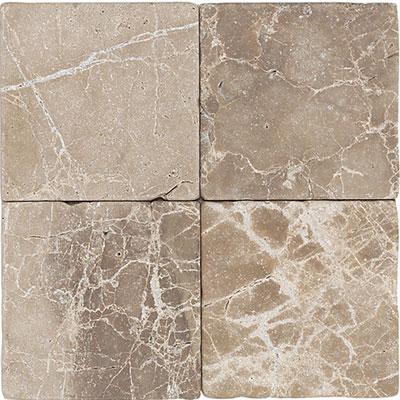 Daltile Marble 6 x 6 Emperador Light Classic Tumbled Tile & Stone