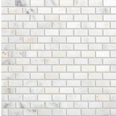 Daltile Marble Brick Joint Mosaic First Snow Elegance Tile & Stone