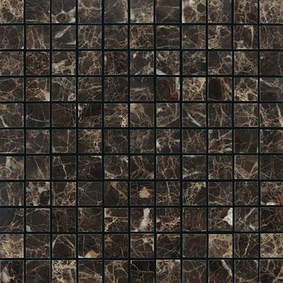 Daltile Marble Mosaic 1x1 Honed Emperador Dark Tile & Stone