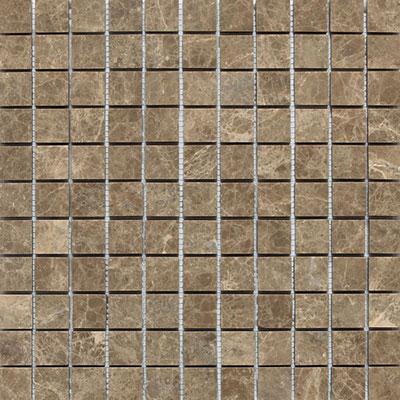 Daltile Marble Mosaic 1x1 Honed Emperador Light Tile & Stone