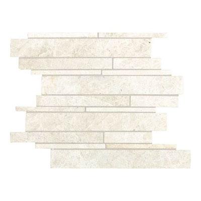 Daltile Marble Random Linear Mosaic White Cliff Tile & Stone