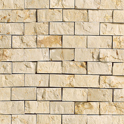 Daltile Marble Split Face Mosaic Crema Marfil Classico Tile & Stone