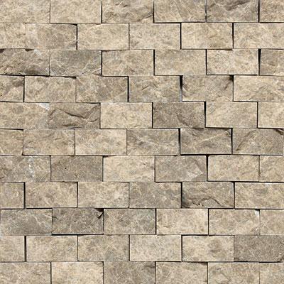 Daltile Marble Split Face Mosaic Emperador Light Classic Tile & Stone