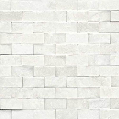 Daltile Marble Split Face Mosaic First Snow Elegance Tile & Stone