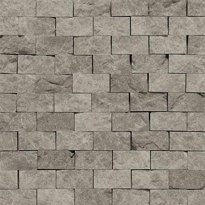 Daltile Marble Split Face Mosaic Silver Screen Tile & Stone