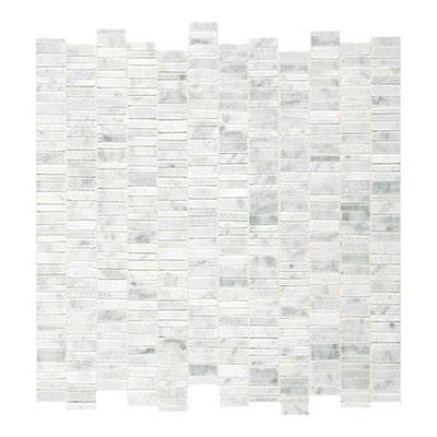 Daltile Marble Mosaics - Unique Shapes Carrara White Random Mosaic Tile & Stone