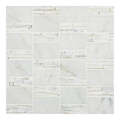 Daltile Marble Mosaics - Unique Shapes Carrara White Abstract Mosaic Tile & Stone