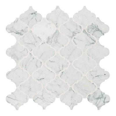 Daltile Marble Mosaics - Unique Shapes Carrara White Baroque Mosaic Tile & Stone