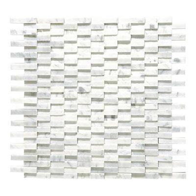 Daltile Marble Mosaics - Unique Shapes Carrara White Cladding Mosaic Tile & Stone