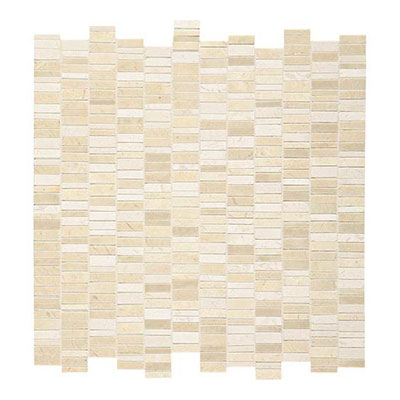 Daltile Marble Mosaics - Unique Shapes Crema Marfil Random Mosaic Tile & Stone