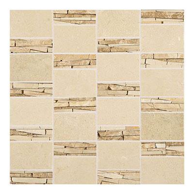 Daltile Marble Mosaics - Unique Shapes Crema Marfil Abstract Mosaic Tile & Stone