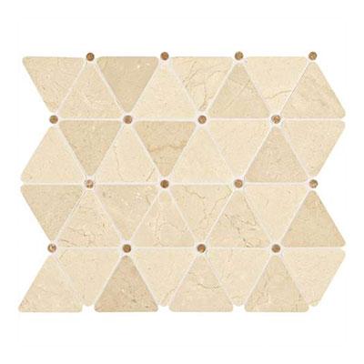 Daltile Marble Mosaics - Unique Shapes Crema Marfil Triangle Mosaic Tile & Stone