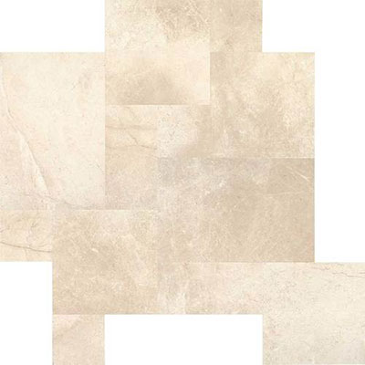 Daltile Marble Versailles Pattern Phaedra Cream Leather Tile & Stone