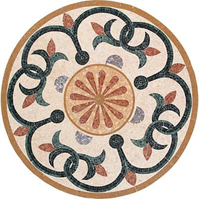 Daltile Medallions - Stone Medallions Botanica Polished Tile & Stone
