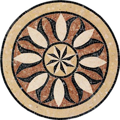 Daltile Medallions - Stone Medallions Bussola Polished Small Tile & Stone