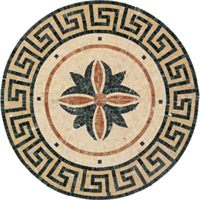 Daltile Medallions - Stone Medallions Fiore Polished Tile & Stone