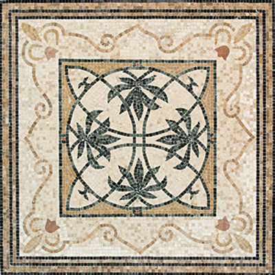 Daltile Medallions - Stone Medallions Oasis Tumbled Tile & Stone