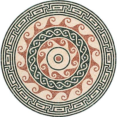 Daltile Medallions - Stone Medallions Pennacchino Polished Tile & Stone