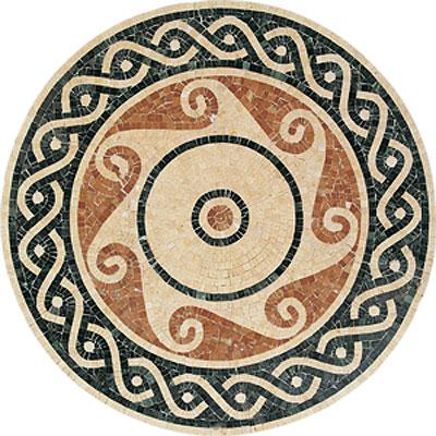 Daltile Medallions - Stone Medallions Pennacchino Small Tile & Stone