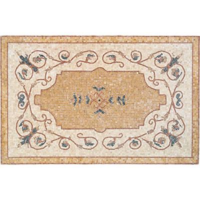 Daltile Medallions - Stone Medallions Vigneto Tumbled Tile & Stone