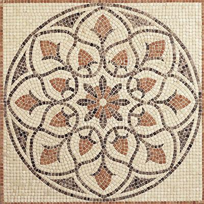 Daltile Medallions - Tumbled Stone La Flora 36 Tumbled Tile & Stone