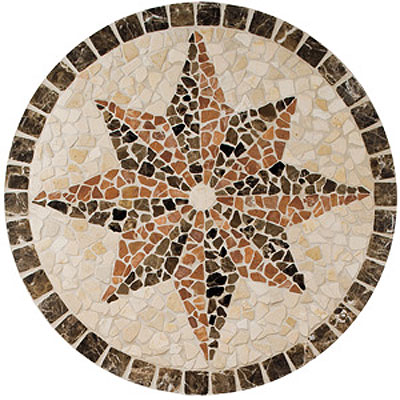 Daltile Medallions - Tumbled Stone Northern Star Tile & Stone