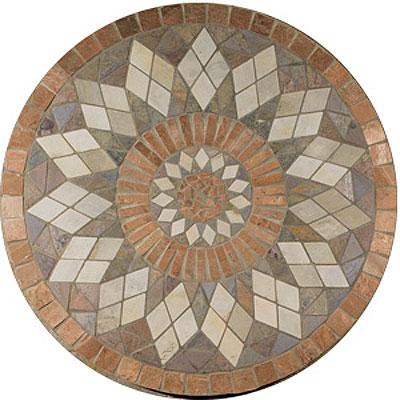 Daltile Medallions - Tumbled Stone Zinnia Tile & Stone
