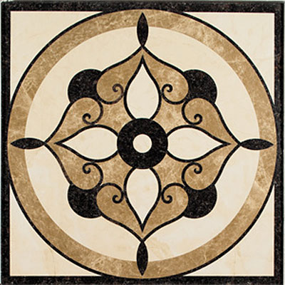 Daltile Medallions - Water Jet Medallions Lotus 42 Tile & Stone