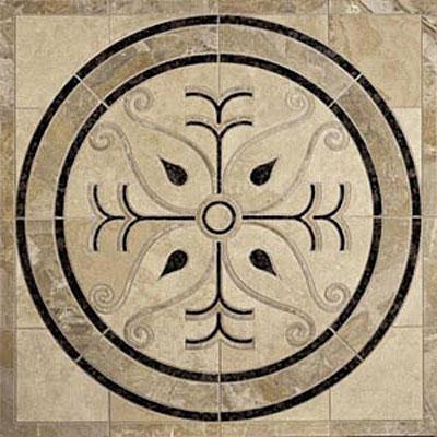 Daltile Medallions - Water Jet Medallions Scroll 36 Tile & Stone