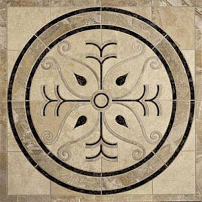 Daltile Medallions - Water Jet Medallions Scroll 42 Tile & Stone