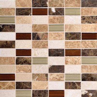 Daltile Melange Mosaic 2 x 1 Classic Tile & Stone