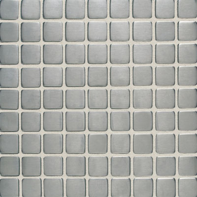 Daltile Metallica - Metal Tile 1x1 Mosaic Brushed Stainless Steel Tile & Stone