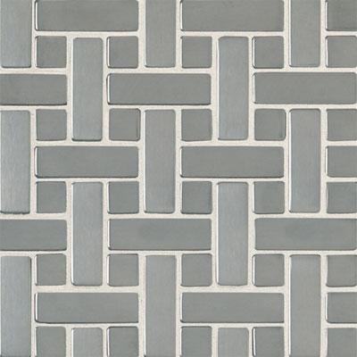 Daltile Metallica - Metal Tile Random Mosaic Brushed Stainless Steel Tile & Stone