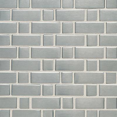 Daltile Metallica - Metal Tile Basketweave (Small) Mosaic Brushed Stainless Steel Tile & Stone
