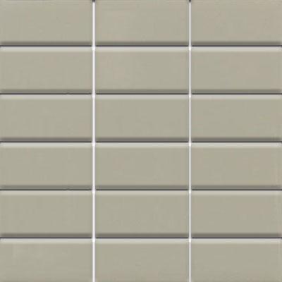 Daltile Modern Dimensions Mosaics 2 x 4 Architectural Gray Gloss Tile & Stone