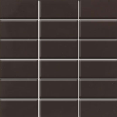 Daltile Modern Dimensions Mosaics 2 x 4 Cityline Kohl Gloss Tile & Stone