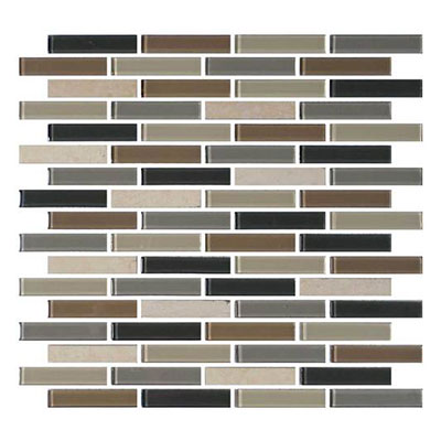 Daltile Mosaic Traditions 5/8 x 3 Brick Joint Mosaic Skyline Tile & Stone