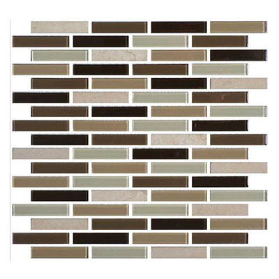 Daltile Mosaic Traditions 5/8 x 3 Brick Joint Mosaic Zen Escape Tile & Stone