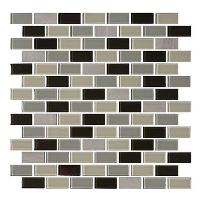 Daltile Mosaic Traditions 3/4 x 1 1/2 Brick Joint Mosaic Evening Sky Tile & Stone