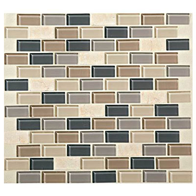 Daltile Mosaic Traditions 3/4 x 1 1/2 Brick Joint Mosaic Skyline Tile & Stone
