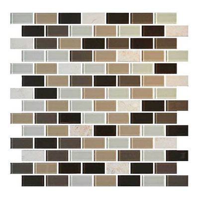 Daltile Mosaic Traditions 3/4 x 1 1/2 Brick Joint Mosaic Zen Escape Tile & Stone