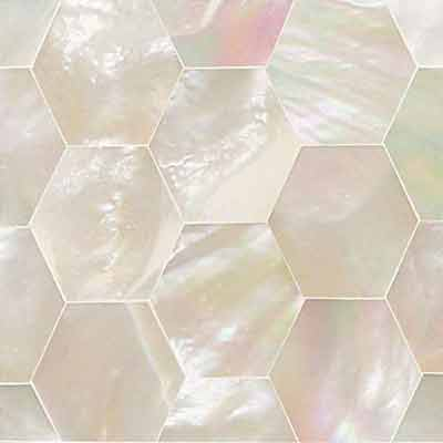 Daltile Ocean Jewels Hexagon Mother Of Pearl Tile & Stone