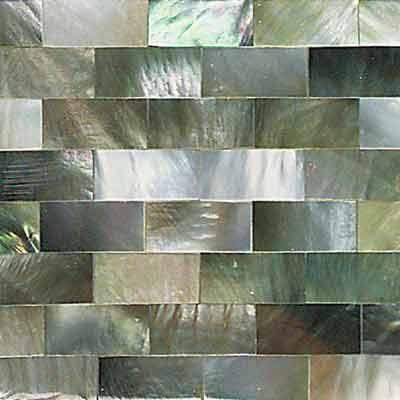 Daltile Ocean Jewels Running Board Black Lip Tile & Stone