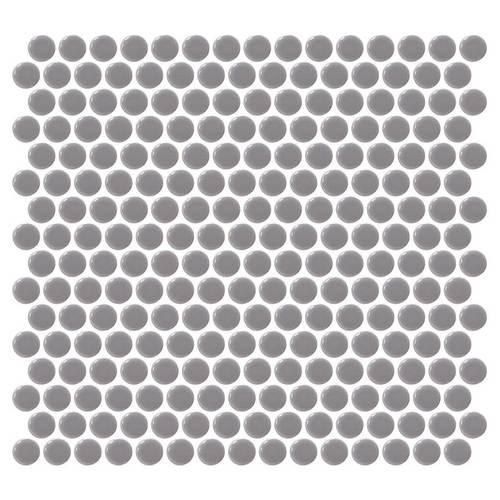 Daltile Retro Round Mosaics Engine Gray Tile & Stone