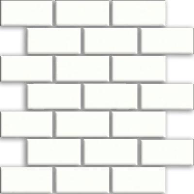 Daltile Rittenhouse Square Brick Joint 2 x 4 White (Semi Gloss) Tile & Stone