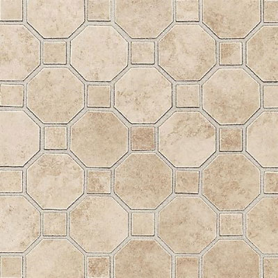 Daltile Salerno Mosaic Octagon w/Dot Cremona Caffe Tile & Stone
