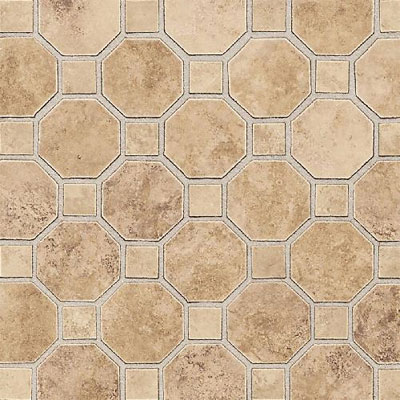Daltile Salerno Mosaic Octagon w/Dot Marrone Chiaro Tile & Stone
